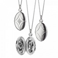 Specialty Item: Sterling Bridle Locket with Sapphire Accents